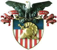 American eagle & shield creating the West Point Military Academy logo.